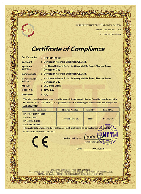 CE certification of LED strip